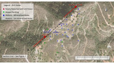 Figure 2 – Drill Location Plan (CNW Group/Minera Alamos Inc.)