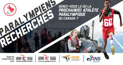 Le Comité paralympique canadien recherchera les tout nouveaux talents sportifs du Canada lors des deux prochaines activités Paralympiens recherchés à Toronto et à Calgary les 27 octobre et 24 novembre respectivement. (Groupe CNW/Canadian Paralympic Committee (Sponsorships))