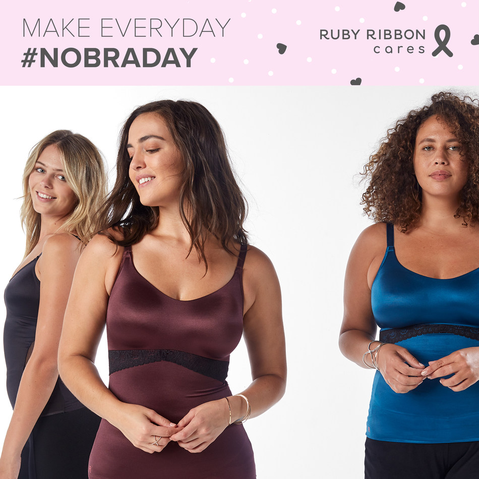Ruby Ribbon's bra-replacement camisole empowers women to make everyday #NoBraDay.
