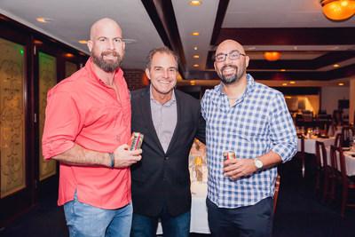 Eduardo Sánchez, Titan Products of Puerto Rico/Medalla Light; Luis González-Esteves, CCom Group, Inc.; Josue Rivera, Titan Products of Puerto Rico/Medalla Light.