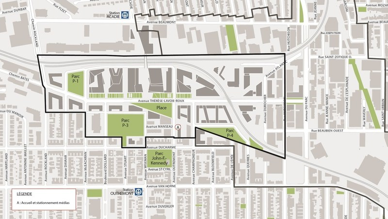 Plan d'accès à la visite (Groupe CNW/Ville de Montréal - Cabinet de la mairesse et du comité exécutif)