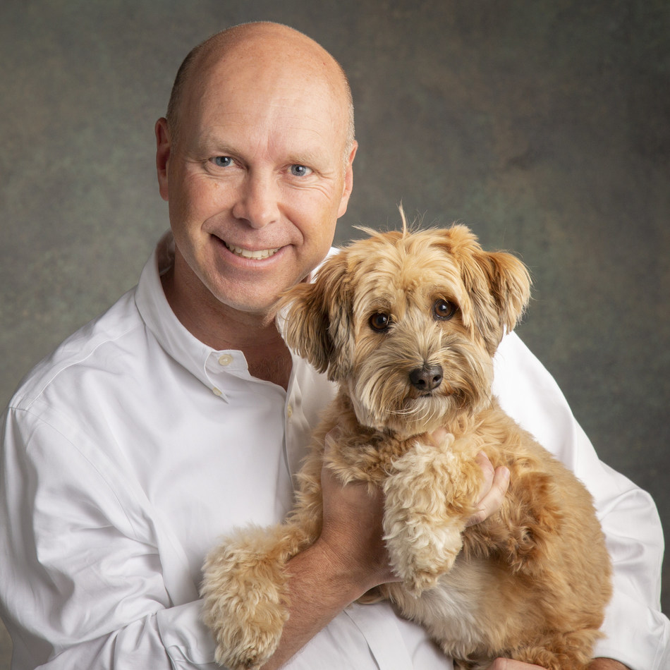 """Merrick Pet Care, Inc., has announced the appointment of current president, Timothy (""""Tim"""") W. Simonds (pictured with his dog, Poppy), as Chief Executive Officer (CEO), Thursday, October 11, 2018. (Photo courtesy of Merrick Pet Care, Inc.)"""
