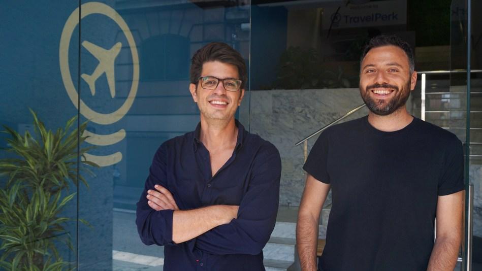 TravelPerk founders: CEO Avi Meir and CPO Javier Suarez (PRNewsfoto/TravelPerk)