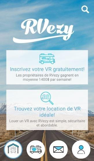 RVezy présente la première application de location de véhicules récréatifs au Canada (Groupe CNW/RVezy Inc)