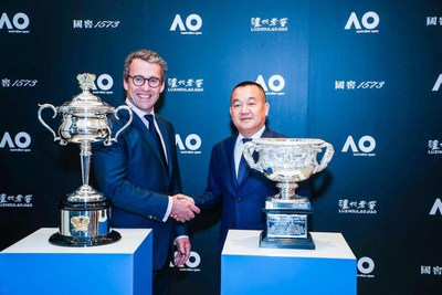 The Australian Open signs sponsorship deal with leading Chinese Baijiu brand Luzhou Laojiao.