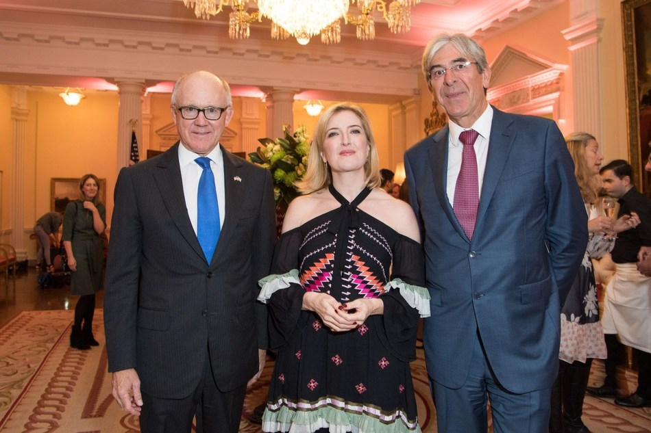 Robert Wood Johnson (American Ambassador) Helen Brocklebank (Walpole CEO) Michael Ward (Harrods CEO and Walpole Chairman) (PRNewsfoto/Walpole)