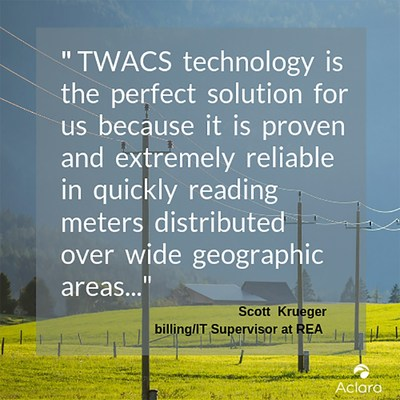 Power line communication solutions work well for utilities that are serving large geographies, especially where there are large distances between meter locations.