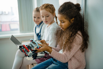 Girls' interest in pursuing a career in math and/or science increases 16 percent from fifth to ninth grade, however, during these years there is also a 15 percent decline in girls' perceived abilities in math and science.
