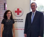 Lisa M. Colby (left) Executive Director, American Red Cross of Upstate SC with Dennis Trice (right), CEO MCA