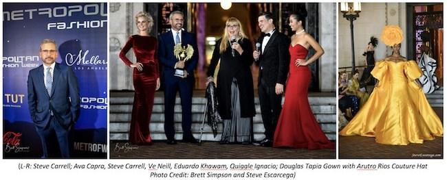 "Steve Carell presented Oscar-winning Makeup artist Ve Neill with the Metropolitan Fashion Week with ""Excellence Award"""
