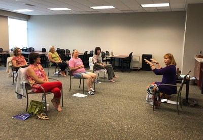 Ageless Grace founder Denise Medved gives a training, customized for FirstLight Home Care, to FirstLight Home Care owners to implement at their franchise locations.