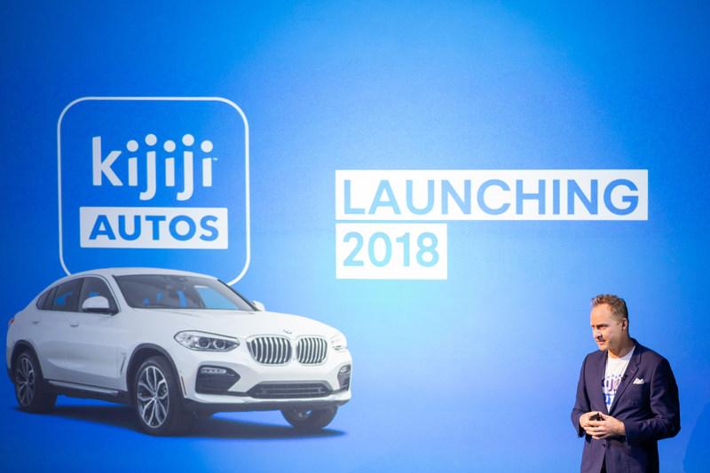 Matt McKenzie, directeur général chez Kijiji annonçant le lancement de Kijiji Autos lors de la 6e conférence annuelle DealerTalkX (Groupe CNW/Kijiji)