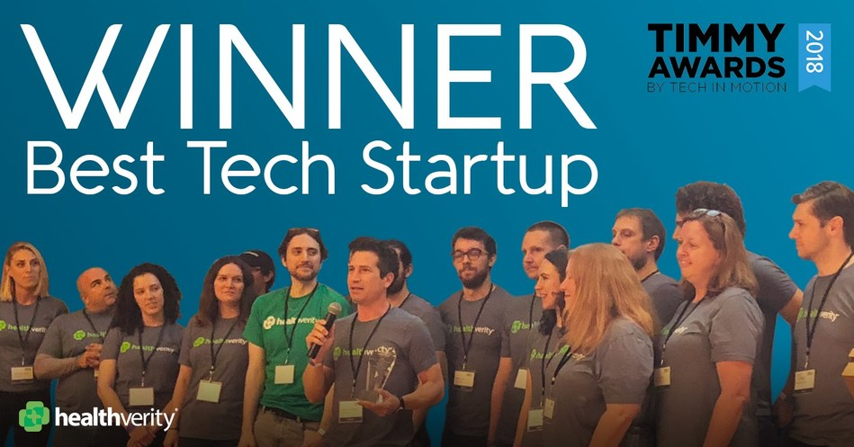 "HealthVerity claims title of ""Best Tech Startup"" at 2018 Timmy Awards"