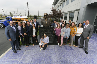 Goya Foods and family unveiled a sculpture of the Founder of Goya Foods Don Prudencio Unanue in celebration of Hispanic Heritage Month on Wednesday, October 10, 2018, at the Goya Foods headquarters in Jersey City.