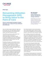 Reinventing Utilization Management Whitepaper