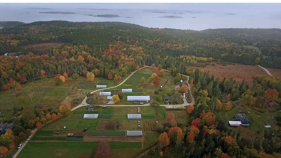 Four Seasons Farm in Harborside, Maine produces vegetables year-round and has become a nationally recognized model of small-scale sustainable agriculture.