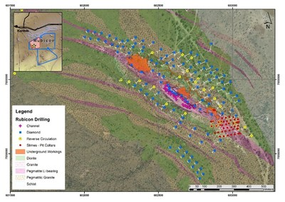 Figure 1. Rubicon MRE Drilling, Channel Sampling and Pitting (CNW Group/Desert Lion Energy)