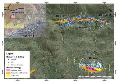 Figure 2. Helikon 1 - 5 MRE Drilling (CNW Group/Desert Lion Energy)
