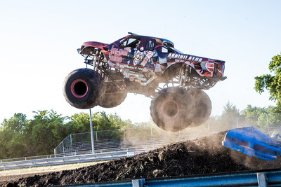 Visitors to the Bar's Leaks/Rislone/Hy-per Lube 2018 SEMA booth can check out the 10-foot tall Hy-per Lube Annihilator monster truck and meet driver Zach Adams.