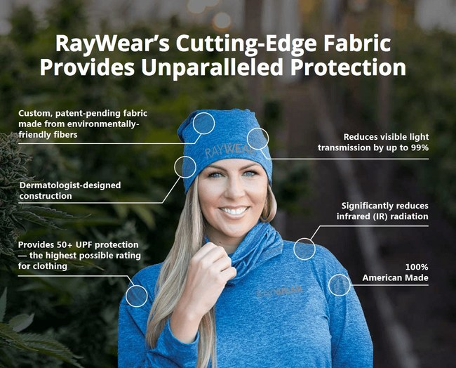 RayWear's custom-designed shirts and pullovers are made from a durable, patent-pending fabric that provides complete protection against full-spectrum light radiation. RayWear gear is also breathable, lightweight, and extremely soft, allowing it to be worn on its own or underneath work coveralls and uniforms.