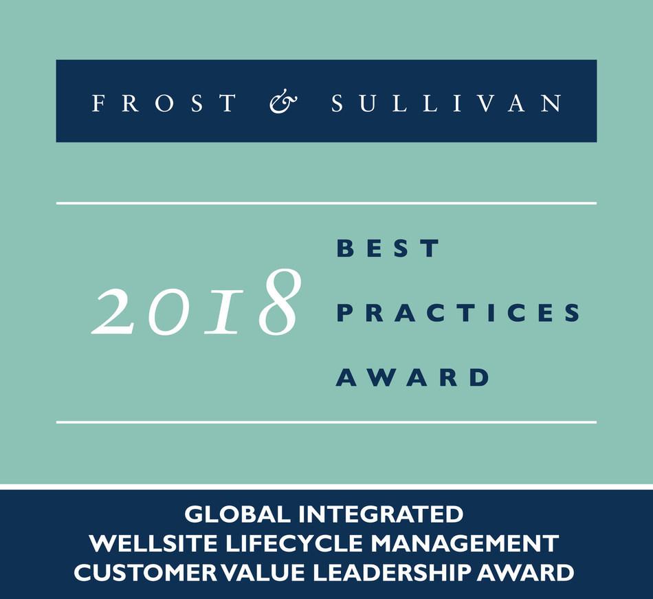 2018 Global Integrated Wellsite Lifecycle ManagementCustomer Value Leadership Award (PRNewsfoto/Frost & Sullivan)