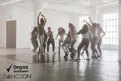 Degree® – el primer desodorante que se activa con el movimiento – se une a DanceOn – el canal principal de entretenimiento dedicado al baile – para ayudar a inspirar a las personas a bailar más a fin de mejorar su salud y bienestar. (PRNewsfoto/Degree Women)