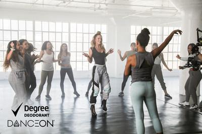 Degree® ? el primer desodorante que se activa con el movimiento ? se une a DanceOn ? el canal principal de entretenimiento dedicado al baile ? para ayudar a inspirar a las personas a bailar más a fin de mejorar su salud y bienestar. (PRNewsfoto/Degree Women)