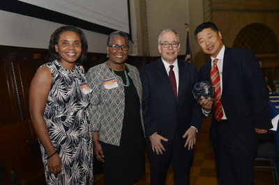 Left to Right: Executive Vice President/Managing Director of Marketing Lesyllee White, Vice President/Director of the New York Regional Office Carol Nixon, NYC Comptroller Scott Stringer, HIT CEO and Co-Chief Portfolio Manager Chang Suh.