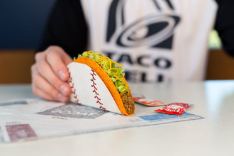 """Taco Bell announces its seventh """"Steal a Base, Steal a Taco"""" promotion for the 2018 World Series. The first player to successfully steal a base scores everyone in America a free Doritos® Locos Taco."""