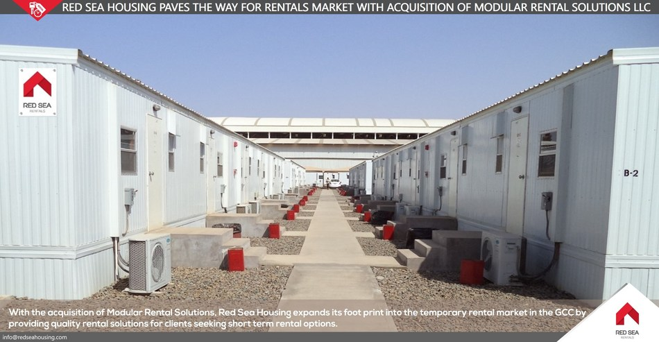 Red Sea Housing Paves the Way for the Rentals Market with Acquisition of Dubai-based Modular Rental Solutions LLC (PRNewsfoto/Red Sea Housing)
