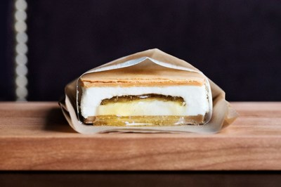 The Milk & Honey Ice Cream Sandwich is Chef Daniel Humm's play on his favorite sweet combination of milk and honey. Photo courtesy of Dylan + Jeni.