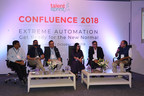 Panellists at the Confluence 2018 on Building Talent for Extreme Automation: (L to R) Mr Ravichandran Rajagopalan, Vice Chairman, Sri Vishnu Group, Mr Karthik Abhirama Krishna, Head - Campus Hiring, TCS (AP & Telangana), Mr Raman Batra, Executive Vice President, NIET, Ms Kanchan Khedkar, Associate General Manager -HR, HCL, Mr Chalapathi V M (Bobby), Senior Director & Head - Talent Management, Virtusa, Dr Santanu Paul, MD & CEO, TalentSprint (PRNewsfoto/TalentSprint)