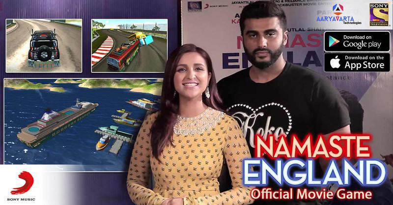 Namaste England movie game Parineeti Chopra and Ajrun Kapoor (PRNewsfoto/Aaryavarta Technologies)
