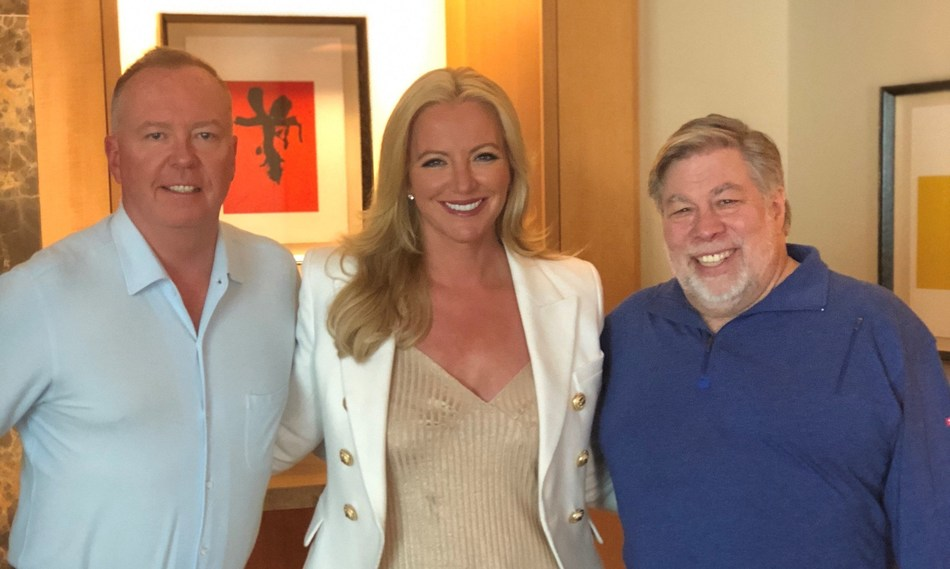 Doug Barrowman, Lady Michelle Mone, and Steve Wozniak in Silicon Valley (PRNewsfoto/EQUI Global)