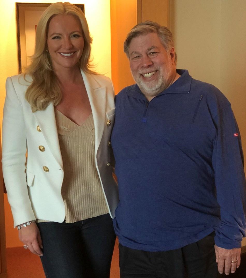 Lady Michelle Mone with Steve Wozniak in Silicon Valley (PRNewsfoto/EQUI Global)