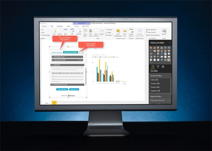 "Studio for BI 2.0 is a major AI milestone as it enables the everyday use of Natural Language Generation in business via BI dashboards. It empowers BI dashboard users to easily add plain English summaries, explanations, reports and stories (""narratives"") to their entire dashboard."