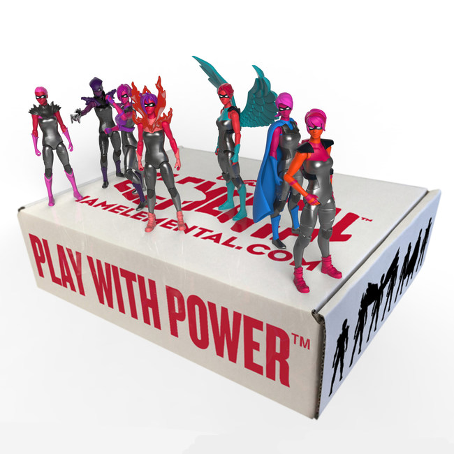 IAmElemental Presents Female Action Figure Gift Sets for