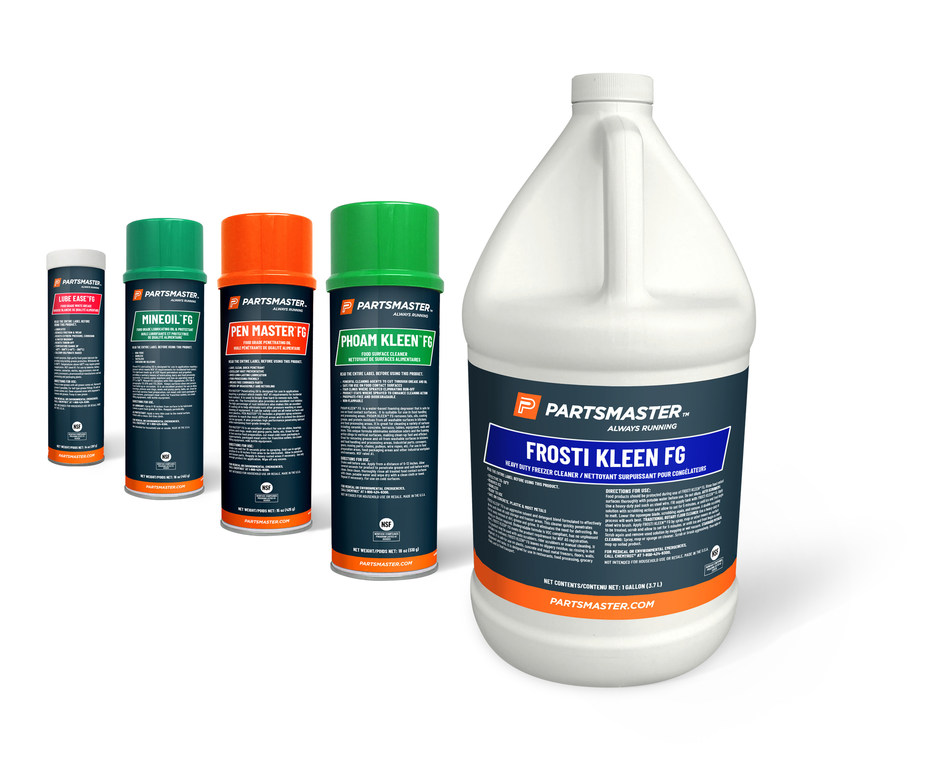 Partsmaster range of NSF approved chemical products.