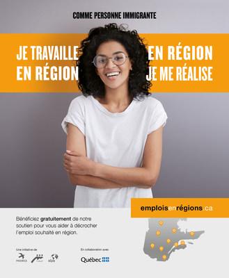 Le site emploisenregions.ca offre une panoplie de services pour les personnes immigrantes cherchant un emploi en région. (Groupe CNW/Emplois en régions)