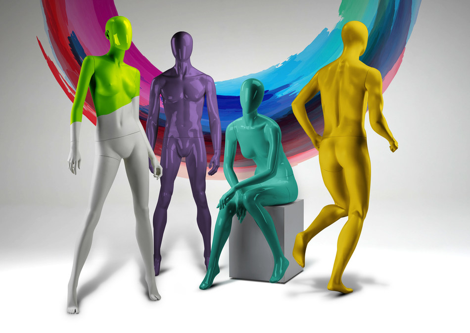 Morplan now offers their extensive range of mannequins in literally Any colour (PRNewsfoto/Morplan Limited)