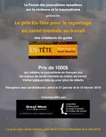 Affiche numérique (Groupe CNW/Le Forum du journalisme canadien sur la violence et le traumatisme)
