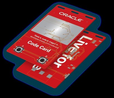 Visitors to the Groundbreaker Hub at Oracle Code One will be able to Get their hands on the Code Card.