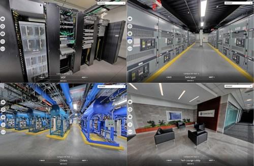 Select stops along CoreSite's new Concept3D-powered virtual data center tour