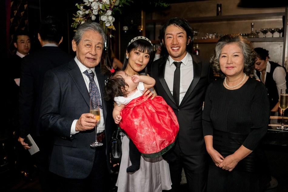 Left to right: Crown Prince Yi Seok, Princess Nana Lee, Princess Lee, Crown Prince Andrew Lee, Princess Kyung-soo Lee