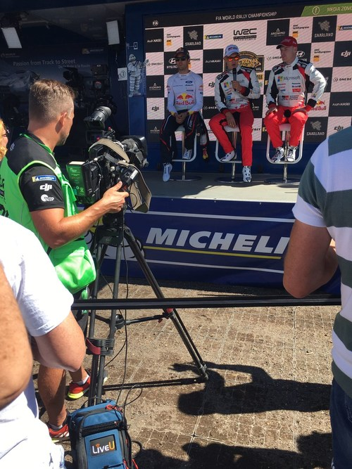 LiveU's LU600 HEVC solution in action at the FIA World Rally Championship in Germany