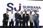 Left to right: Mr. Eric Ang, Board Member, Surbana Jurong; Mr. Ku Moon Lun, Board Member, Surbana Jurong; Mr. Bill Nankivell, CEO, B+H Architects; Mr. Liew Mun Leong, Chairman, Surbana Jurong; Mr. Wong Heang Fine, Group CEO, Surbana Jurong; Mr. Rocco Yim, Principal, Rocco Design Architects; Mr. Yeo Siew Haip, Managing Director, SAA (CNW Group/B+H)