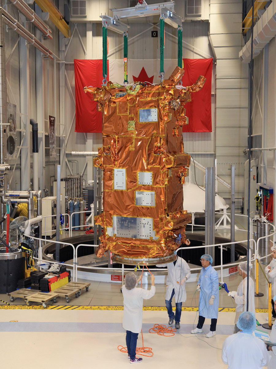 MDA-built spacecraft for CSA's RADARSAT Constellation Mission. © Canadian Space Agency, 2017/ © Agence spatiale canadienne, 2018 (CNW Group/Maxar Technologies Ltd.)