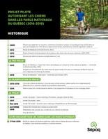 Parcs nationaux du Québec - Un accès encadré pour les chiens au printemps prochain (Groupe CNW/Société des établissements de plein air du Québec)
