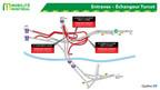 Entraves − Échangeur Turcot (Groupe CNW/Ministère des Transports, de la Mobilité durable et de l'Électrification des transports)