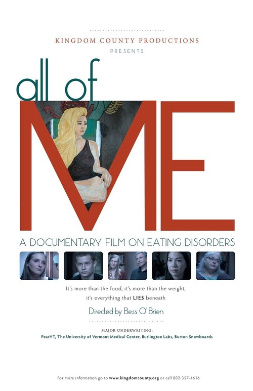 """""""All of Me,"""" a documentary film by Bess O'Brien, focuses on the lives of women, girls and boys who are caught in the downward spiral of eating disorders and their struggle to regain a sense of self compassion and healing."""